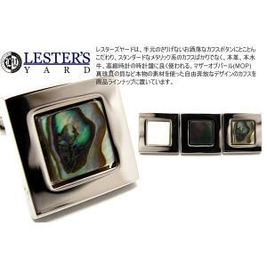 LESTER'S YARD レスターズヤード シェルスクウェアカフス (カフスボタン カフリンクス)|cufflink