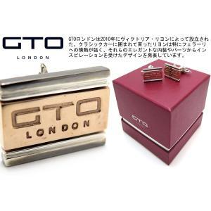 GTO LONDON GTOロンドン ロゴカフス(リアルフェラーリメタル) (カフスボタン カフリンクス) ブランド|cufflink