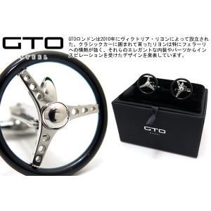 GTO STEEL GTOスティール ナルディトリノカフス(ブラック) (カフスボタン カフリンクス) ブランド|cufflink