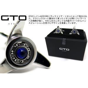 GTO STEEL GTOスティール ガレットーネスピナーカフス(ブルーストーン) (カフスボタン カフリンクス) ブランド|cufflink
