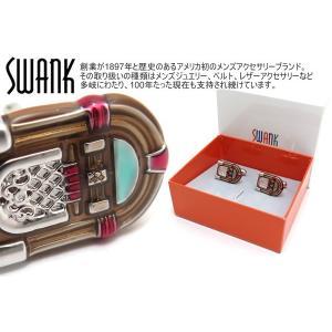 SWANK スワンク ジュークボックスカフス(ブラウン) (カフスボタン カフリンクス)|cufflink