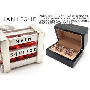 JAN LESLIE ジャンレスリー メインスクイーズクレートオブオレンジシルバーカフス (カフスボタン カフリンクス) ブランド|cufflink