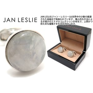 JAN LESLIE ジャンレスリー ラウンドムーンストーンシルバーカフス (カフスボタン カフリンクス) ブランド|cufflink