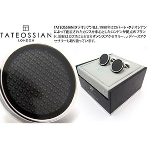 TATEOSSIAN タテオシアン アイスタブレットカフス(ブラック) (カフスボタン カフリンクス) ブランド|cufflink