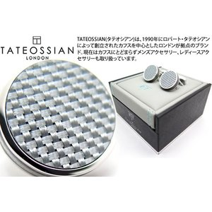 【P10倍】 TATEOSSIAN タテオシアン タブレットカーボンカフス(グレイ) (カフスボタン カフリンクス) ブランド|cufflink