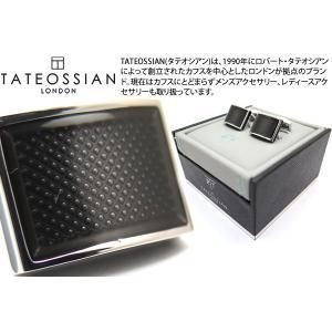 TATEOSSIAN タテオシアン アイスレクタングルカフス(ブラック) (カフスボタン カフリンクス) ブランド|cufflink