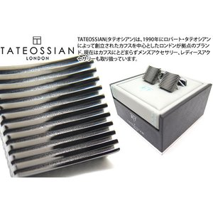TATEOSSIAN タテオシアン 禅ガーデンスクウェアカフス(ガンメタル) (カフスボタン カフリンクス) ブランド|cufflink