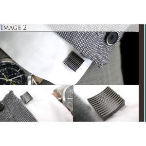 TATEOSSIAN タテオシアン 禅ガーデンスクウェアカフス(ガンメタル) (カフスボタン カフリンクス) ブランド cufflink 04