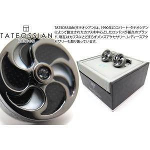TATEOSSIAN タテオシアン ウィンドミルエナメルカフス(ブラック&ホワイト) (カフスボタン カフリンクス) ブランド|cufflink
