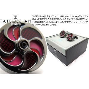 TATEOSSIAN タテオシアン ウィンドミルエナメルカフス(レッド) (カフスボタン カフリンクス) ブランド|cufflink