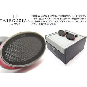 TATEOSSIAN タテオシアン アイスオーバルカフス(レッド) (カフスボタン カフリンクス) ブランド|cufflink