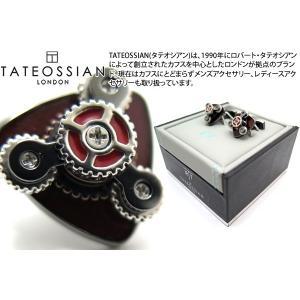 TATEOSSIAN タテオシアン ギアトリオカフス(ガンメタル・レッド) (カフスボタン カフリンクス) ブランド|cufflink