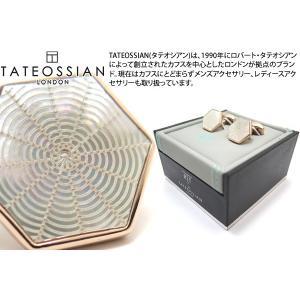 TATEOSSIAN タテオシアン ビジネスギローシュウェブカフス(ローズゴールド・白蝶貝) (カフリンクス) ブランド|cufflink