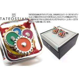 TATEOSSIAN タテオシアン メカニカルギアスクウェアカフス(マルチカラー) (カフスボタン カフリンクス) ブランド|cufflink