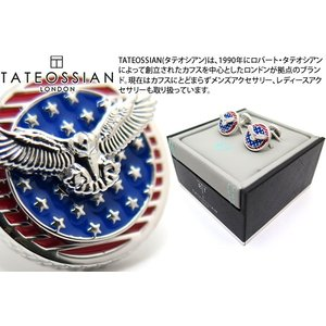 TATEOSSIAN タテオシアン ポップローテーティング国旗カフス(アメリカ) (カフスボタン カフリンクス) ブランド|cufflink