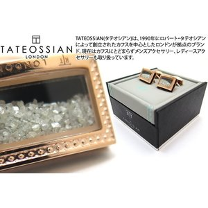 TATEOSSIAN タテオシアン ユニーク シグニチャダイヤモンドダストカフス(ローズゴールド&ブラック) (カフスボタン カフリンクス) ブランド|cufflink