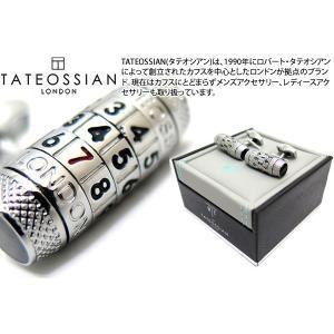TATEOSSIAN タテオシアン メカニカルコンビネーション777カフス(ロジウム、ブラックカーボン) (カフスボタン カフリンクス) ブランド|cufflink