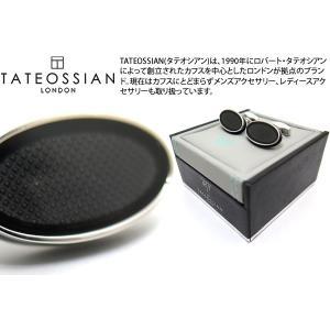 TATEOSSIAN タテオシアン エナメル オーバルアイスカフス(ブラック) (カフスボタン カフリンクス) ブランド|cufflink
