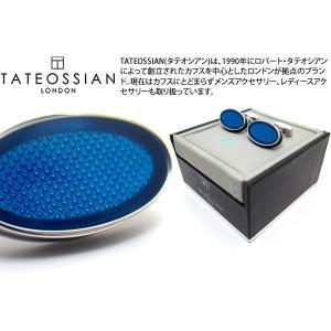TATEOSSIAN タテオシアン エナメル オーバルアイスカフス(ブルー) (カフスボタン カフリンクス) ブランド|cufflink