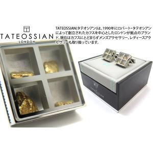 TATEOSSIAN タテオシアン ユニーク プレシャスウィンドウカフス(ゴールドナゲット約0.838g) (カフスボタン カフリンクス) ブランド|cufflink