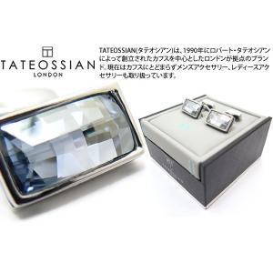 TATEOSSIAN タテオシアン クリスタルバゲットスワロフスキーカフス(ブルーシェード) (カフリンクス) ブランド|cufflink