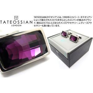 TATEOSSIAN タテオシアン クリスタルバゲットスワロフスキーカフス(アメジスト) (カフリンクス) ブランド|cufflink