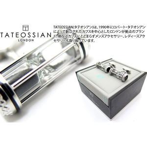 TATEOSSIAN タテオシアン ユニーク 砂時計カフス(ブラック) (カフスボタン カフリンクス) ブランド|cufflink