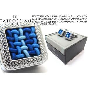 TATEOSSIAN タテオシアン ユニーク パノラマ水引カフス(ブルー) (カフスボタン カフリンクス) ブランド|cufflink