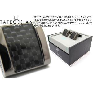 【P10倍】 TATEOSSIAN タテオシアン カーボンファイバーフリーウェイカフス(ブラック) (カフスボタン カフリンクス) ブランド|cufflink