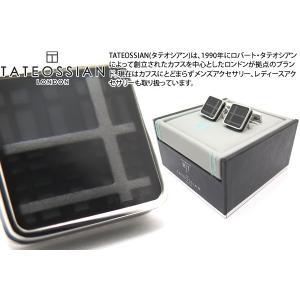 TATEOSSIAN タテオシアン エナメル タータンアイスカフス(ブラック) (カフスボタン カフリンクス) ブランド|cufflink