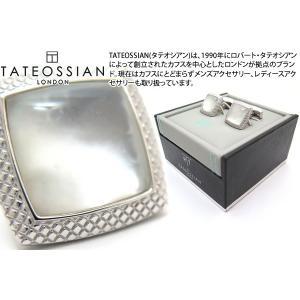 TATEOSSIAN タテオシアン ダブレット ムーンライトクアドラートカフス(白蝶貝) (カフスボタン カフリンクス) ブランド|cufflink