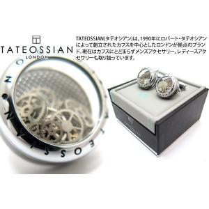 TATEOSSIAN タテオシアン パノラマギアカフス(ロジウム&ブラック) (カフスボタン カフリンクス) ブランド|cufflink