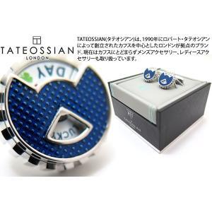 TATEOSSIAN タテオシアン プレイタイム フォーチュンホイールカフス(ブルー) (カフスボタン カフリンクス) ブランド|cufflink