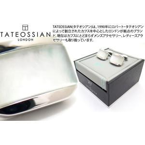 TATEOSSIAN タテオシアン ダブレット ムーンライトトノーカフス(白蝶貝) (カフスボタン カフリンクス) ブランド|cufflink