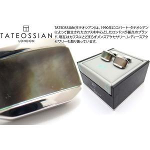 TATEOSSIAN タテオシアン ダブレット ムーンライトトノーカフス(黒蝶貝) (カフスボタン カフリンクス) ブランド|cufflink