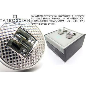TATEOSSIAN タテオシアン クリスタル インターロックスワロフスキーカフス(グレー) (カフスボタン カフリンクス) ブランド|cufflink