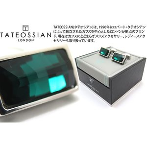 TATEOSSIAN タテオシアン クリスタルバゲットスワロフスキーカフス(グリーン) (カフスボタン カフリンクス) ブランド|cufflink