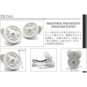 TATEOSSIAN タテオシアン インダストリアル フリーウエイトカフス(マットロジウム) (カフスボタン カフリンクス) ブランド cufflink 02