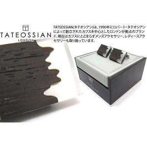 TATEOSSIAN タテオシアン ユニーク フュージョンカフス(ロジウム&クリア) (カフスボタン カフリンクス) ブランド|cufflink