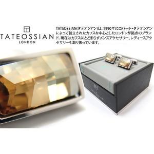TATEOSSIAN タテオシアン クリスタルバゲットスワロフスキーカフス(ゴールド) (カフスボタン カフリンクス) ブランド|cufflink