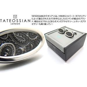 TATEOSSIAN タテオシアン エナメル ペイズリーアイスカフス(ブラック) (カフスボタン カフリンクス) ブランド cufflink