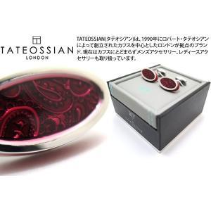 TATEOSSIAN タテオシアン エナメル ペイズリーアイスカフス(レッド) (カフスボタン カフリンクス) ブランド|cufflink