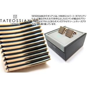 TATEOSSIAN タテオシアン 禅カフス(ローズゴールド&ブラック) (カフスボタン カフリンクス) ブランド|cufflink