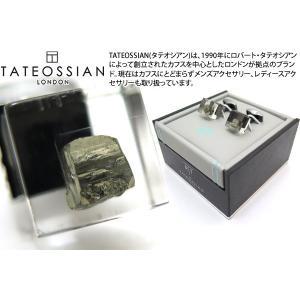 TATEOSSIAN タテオシアン ユニーク パイライトインレジンカフス(ガンメタル) (カフスボタン カフリンクス) ブランド|cufflink