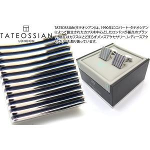 TATEOSSIAN タテオシアン 禅カフス(ロジウム&ブルー) (カフスボタン カフリンクス) ブランド|cufflink