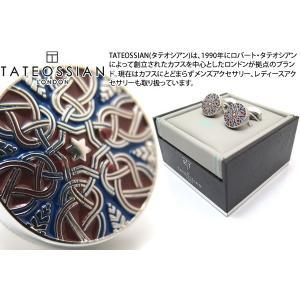 TATEOSSIAN タテオシアン エナメル スターウィーヴカフス(レッド&ネイビー) (カフスボタン カフリンクス) ブランド|cufflink