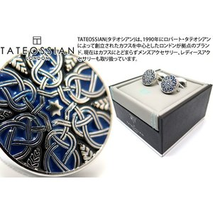 TATEOSSIAN タテオシアン エナメル スターウィーヴカフス(ブルー&ブラック) (カフスボタン カフリンクス) ブランド|cufflink