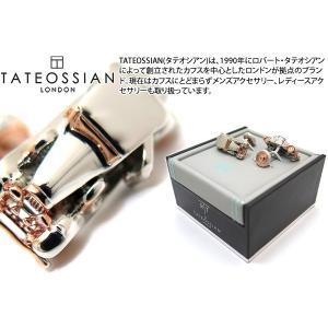 TATEOSSIAN タテオシアン ノベルティ ビンテージカーカフス(ロジウム&ローズゴールド) (カフスボタン カフリンクス) ブランド|cufflink