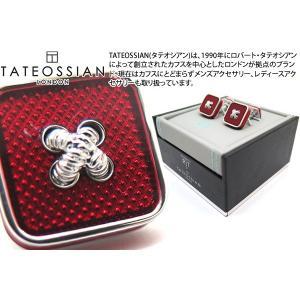 TATEOSSIAN タテオシアン エナメル ボタンアイスカフス(レッド) (カフスボタン カフリンクス) ブランド|cufflink