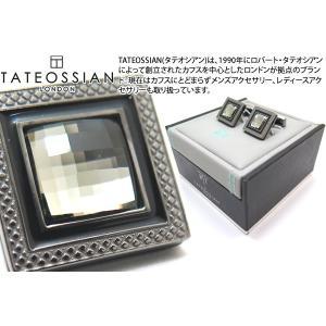 TATEOSSIAN タテオシアン クリスタル クアドラートネーロスワロフスキーカフス(ブラックダイヤモンド) (カフスボタン カフリンクス) ブランド|cufflink